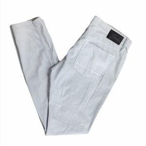 Henry & Belle Gray Silver Corduroy Skinny Pants